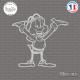 Sticker Petit Lutin Sticks-em.fr Couleurs au choix
