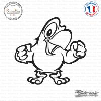 Sticker Perroquet Sticks-em.fr Couleurs au choix