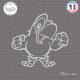 Sticker Perroquet sticks-em.fr