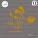 Sticker Chien Fou Sticks-em.fr Couleurs au choix