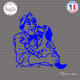 Sticker Gugus et Chien Sticks-em.fr Couleurs au choix