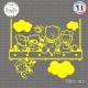 Sticker Le Déjeuner Des Enfants Sticks-em.fr Couleurs au choix