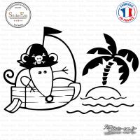 Sticker Souris Pirate