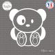 Sticker Ours Panda Sticks-em.fr Couleurs au choix