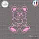 Sticker Teddybear Sticks-em.fr Couleurs au choix