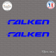 2 Stickers Falken Sticks-em.fr Couleurs au choix