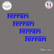 4 Stickers Ferrari Sticks-em.fr Couleurs au choix