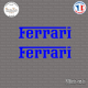 2 Stickers Ferrari Sticks-em.fr Couleurs au choix