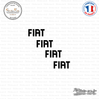 4 Stickers Fiat Logo
