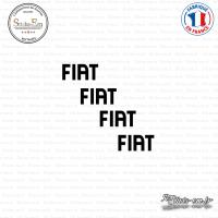 4 Stickers Fiat Logo Sticks-em.fr Couleurs au choix