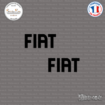 2 Stickers Fiat Logo