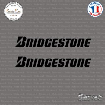 2 Stickers Bridgestone Logo
