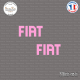 2 Stickers Fiat Logo Sticks-em.fr Couleurs au choix