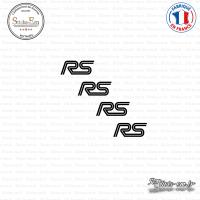 4 Stickers RS Logo Sticks-em.fr Couleurs au choix
