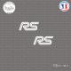 2 Stickers RS Logo Sticks-em.fr Couleurs au choix