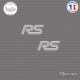2 Stickers RS Logo Sticks-em.fr Couleurs au choix