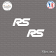 2 Stickers RS Sticks-em.fr Couleurs au choix