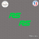 2 Stickers RS Sticks-em.fr Couleurs au choix