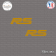 2 Stickers RS Logo V2 Sticks-em.fr Couleurs au choix
