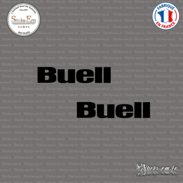 2 Stickers BUELL Logo