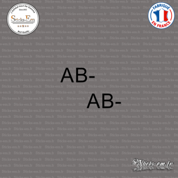 2 Stickers Groupe sanguin AB-