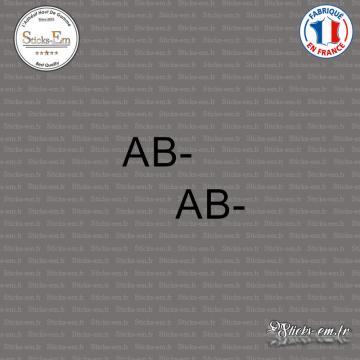 2 Stickers Groupe sanguin AB-