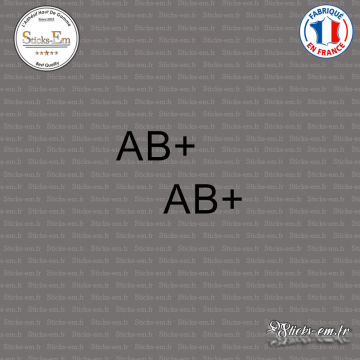 2 Stickers Groupe sanguin AB+