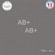 2 Stickers Groupe sanguin AB+ sticks-em.fr