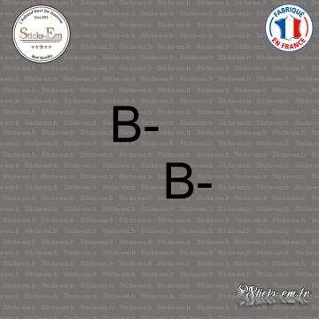 2 Stickers Groupe sanguin B-