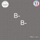 2 Stickers Groupe sanguin B- Sticks-em.fr Couleurs au choix