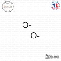 2 Stickers Groupe sanguin O-