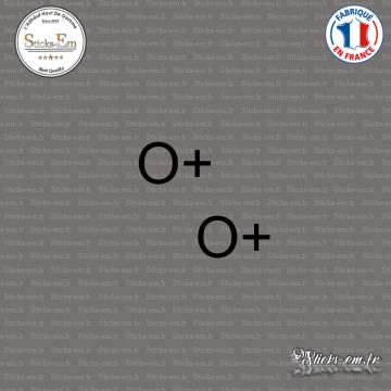 2 Stickers Groupe sanguin O+