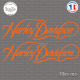 2 Stickers Harley Davidson Sticks-em.fr Couleurs au choix