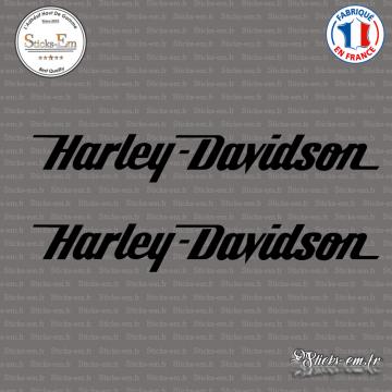 2 Stickers Harley Davidson Logo
