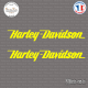 2 Stickers Harley Davidson Logo Sticks-em.fr Couleurs au choix