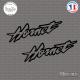 2 Stickers Hornet Sticks-em.fr Couleurs au choix