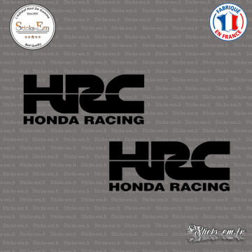 2 Stickers HONDA HRC