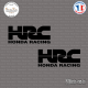 2 Stickers HONDA HRC Sticks-em.fr Couleurs au choix