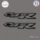 2 Stickers 900CBR Sticks-em.fr Couleurs au choix