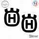 2 Stickers Husqvarna Logo Sticks-em.fr Couleurs au choix