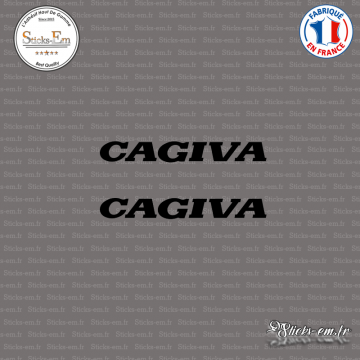 2 Stickers Cagiva
