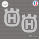 2 Stickers Husqvarna Logo sticks-em.fr
