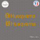 2 Stickers Husqvarna Sticks-em.fr Couleurs au choix