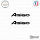 2 Stickers Isuzu Amigo