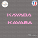 2 Stickers Kayaba V2 Sticks-em.fr Couleurs au choix