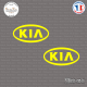 2 Stickers kia Sticks-em.fr Couleurs au choix