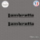 2 Stickers Lambretta Sticks-em.fr Couleurs au choix