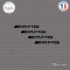 4 Stickers AMG Sticks-em.fr Couleurs au choix