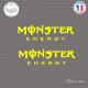2 Stickers Monster energy Sticks-em.fr Couleurs au choix