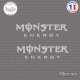 2 Stickers Monster energy Sticks-em.fr Couleurs au choix